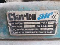 Clarke 160 ltr air compressor