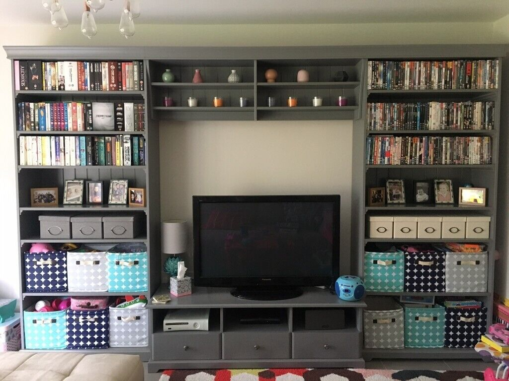 Ikea Liatorp In Grey Includes Two Bookcases Tv Unit Bridging Unit In Horsham West Sussex Gumtree