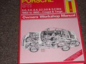 Porsche 911 air cooled workshop manual