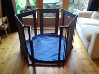 Lindam playpen with blue playmat