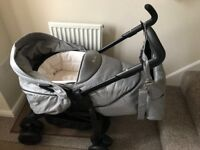 Silver Cross 3D grey pram and pushchair