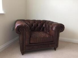 Chesterfield style leather chair