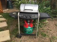 2 Burner Gas BBQ & Full Gas Bottle