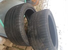 Goodyear Eagle F1 255 40 19 Pair 5.5mm tread Very Good condition