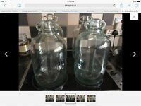 DEMI JOHNS X 4 EACH HOLD 1 GALLON CLEAR GLASS 4 GALLONS BEER WINE MAKING HOME BREWING