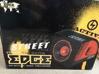 Large car speaker 750 Watts make Edge (street) x2 sets of door / shelf speakers....see pictures