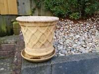 Garden Pot & Saucer