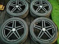 Genuine OEM Audi Alloy Wheels 5x112 A4 A5 A6 A7 A8 S Line Black edition