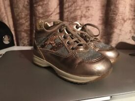 Designer Hogan Gold Trainers UK size 5 toddler
