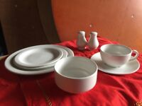 Catering crockery white 130 place settings