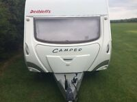DETHLEFFS CAMPER CARAVAN UK EDITION WITH ISABELLA AWNINGS X 2 AND MOTOR MOVER 2007 LATE TRIM MINT