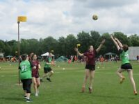 Try a new sport - korfball! Like basketball or netball & perfect for beginners