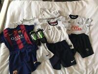 Large bundle of boys football kits Age 5-7