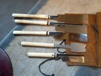 set of nakaya japanese wood saws in perfect condition