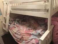 White bunk bed £180