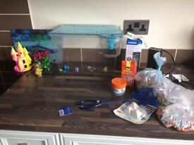 🌟🐟Fish tank starter set and accessories