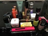 MAKE UP. ESTEE LAUDER, REVLON,L'OCCITANE,EVE SNOW,L'OREAL,BURTS BEES, ETC FOR GIFTS OR TABLE GIFTS.