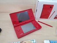 Dsi Console (red) and Charger Boxed Mint