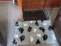 Puppy or small dog holding cage 24x18x21 folds down . Also grey vet bed collection only