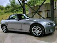 Honda s 2000 convertible private reg plate, full service history, part x for a four seat coupe