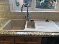Ceramic white sink