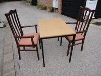 3 X 2 FEET KITCHEN / DINING TABLE AND 2 CHAIRS