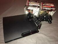 Sony PS3 120gb slim, 4 controllers and 25 games
