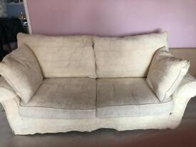 Ivory sofa for sale x 2
