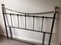 Headboard black and brass metal