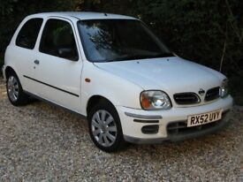 Extremely reliable Nissan Micra 1.0, relatively low mileage, with valid MOT until June 2019.