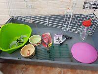 Indoor Rabbit Cage and accessories.