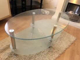 Oval coffee table for sale. Only £10