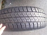 195 60 R15 195/60/R15 Continental Tyre on Steel Wheel, spare tyre from vauxhall astra looks unused