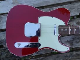 fender 62 edge bound telecaster swap trade see through candy apple red