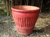 Large Vintage Terracotta Garden Planter Garden Pot 34cm Tall