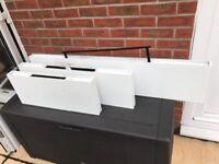 White floating shelf set of three