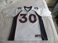 Nike Denver Broncos Jersey Terrell Davis Size Large White