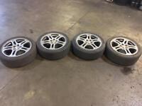 """Original Subaru Impreza Wheels 17"""" 5x100 Metallic Grey"""