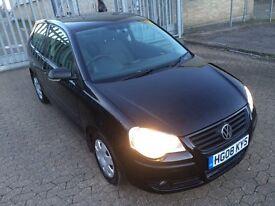 Volkswagen polo, 2008, 1.2 litre, black 3 door hatchback, cheap insurance/tax, 1 OWNER, Hpi clear