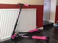 Flickr 3 wheeled scooter. Pink & Black. VGC