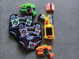 Nerf Strike guns and tag vests