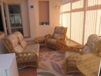 Conservatory furniture set 2 chairs 1 settee and coffee tables