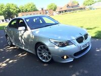 BMW 525D 3.0 DIESEL M SPORT 2009 AUTOMATIC FULL HEATED LEATHERS SAT NAV FULL SERVICE HISTORY 12STAMP