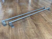 2x towel rails