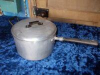 aluminium stew broth pan with lid 6 pint