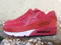 Nike Air Max 90s Suede Red UK 8.5 Trainers Shoes