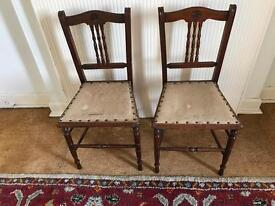 antique chairs x 2