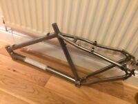 Dirty Jo hard tail aluminium mountain bike frame - hardly used
