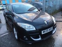 RENAULT MEGANE 1.6 PETROL 2009 BLACK 5 DOORS MANUAL DYNAMIQUE 1 OWNER