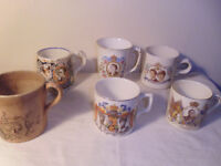COLLECTION OF 6 ROYAL FAMILY MUGS FROM 1897-1981